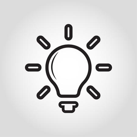 light bulb icon vector illustration grey background Ilustrace