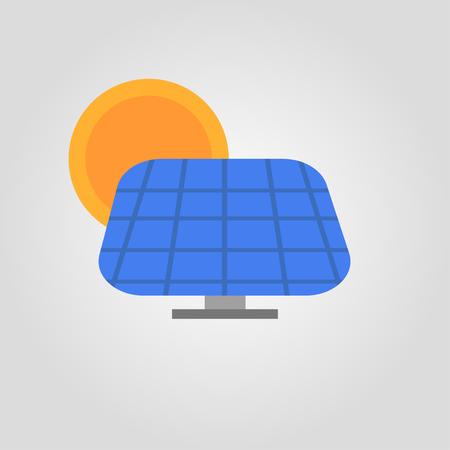 solar pannel sun eco light energy colorful icon