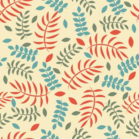 Floral vintage pattern leaves Ilustrace
