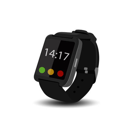 smart watch vector realistic illustration