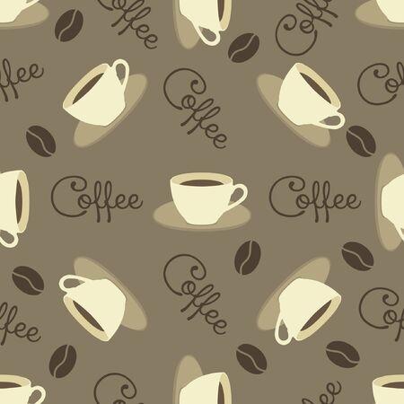 coffee pattern vintage background