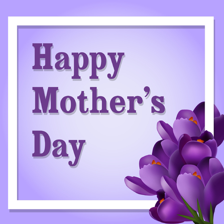 Happy mothers day card background greeting banner