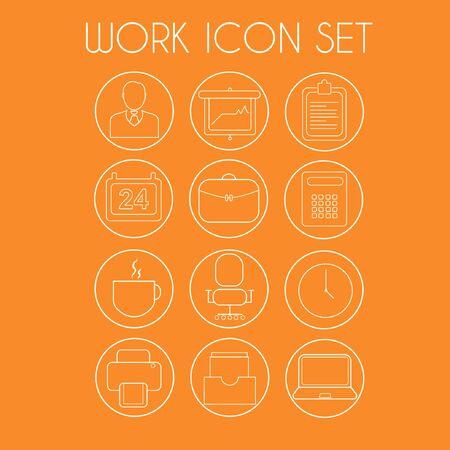 Line work icon set Ilustrace