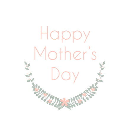 Happy mothers day soft color Ilustrace
