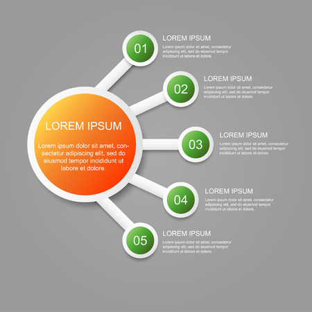 Abstract infographic number options. Business data. Process chart. diagram with 5 steps, options.