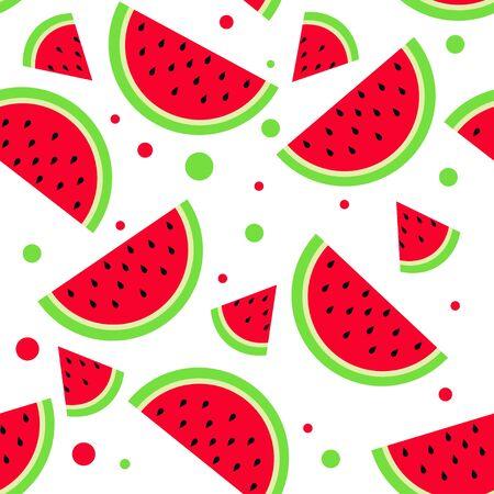 watermelon pattern summer bright background red green fruit
