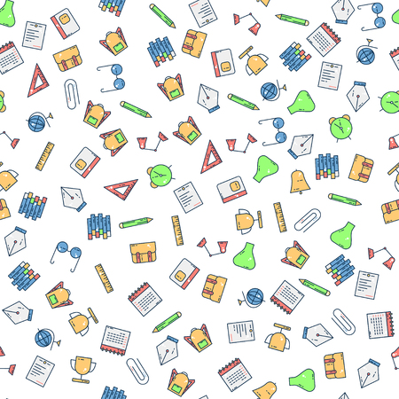 Back to school pattern vector icon background