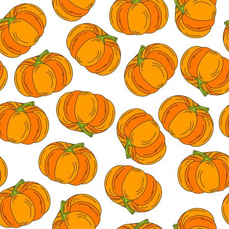 pattern pumpkin handdrawn icon background vector illustration halloween