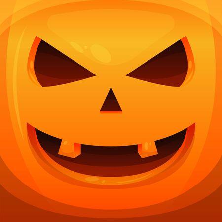 pumpkin haloween scary vector illustration background banner vector Ilustrace
