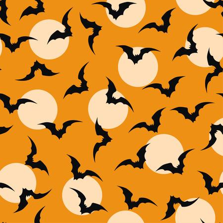 bat ornage halloween background vector Ilustrace