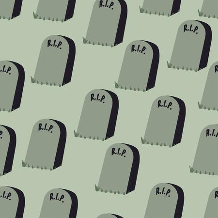rip grave halloween pattern background