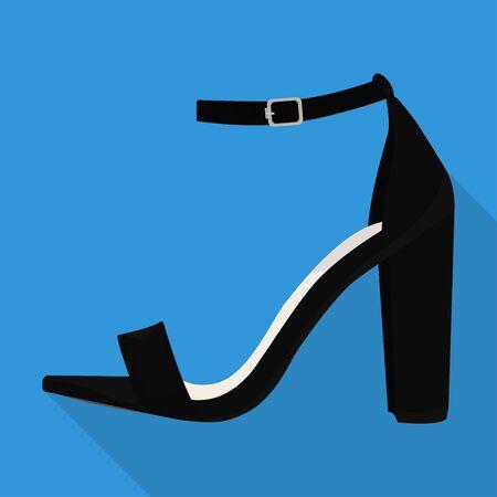 ankle strap shoes woman flat isolates vector heel Illusztráció