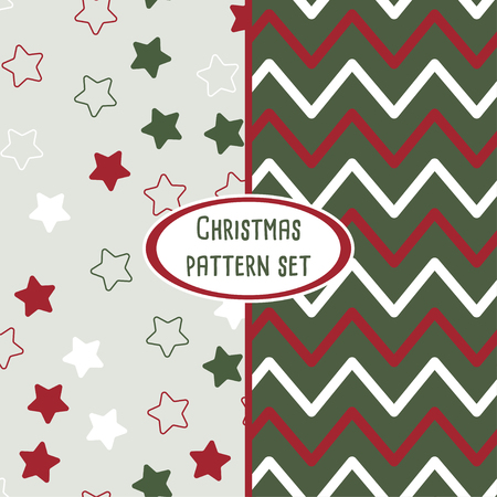 set of christmas pattern backgrounds