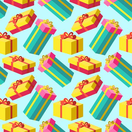 christmas gift present pattern background Ilustrace