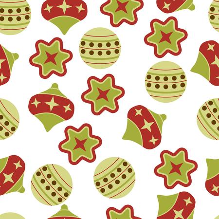 abstract christmas balls vector illustration green