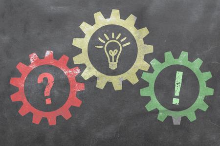 Probleem en oplossing - Business Concept