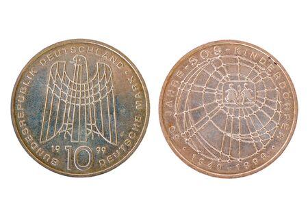 bundes: ten dm-coin Stock Photo