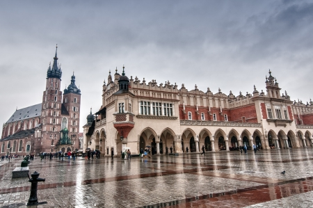 poland: hdr image of cracow
