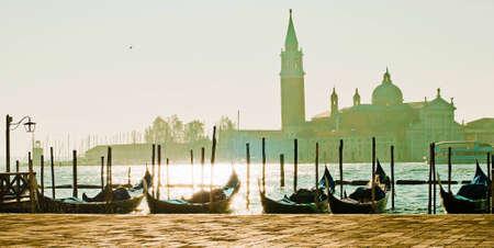 The Gondola Parking in Italian Venice photo