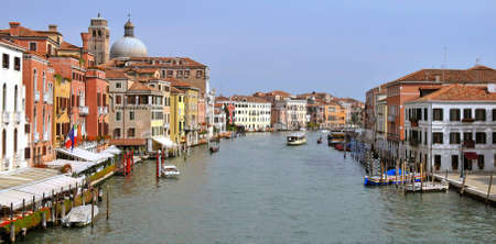 View of the Grand Canal in Venice Italy photo