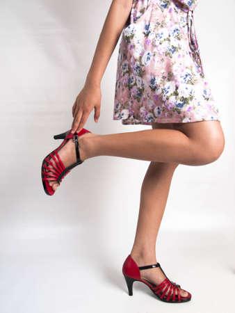 A T-Strap ballroom dancing shoes