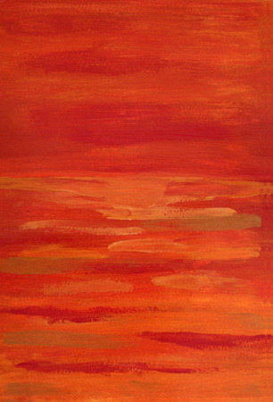 tempera: abstract shades of red painting tempera on paper