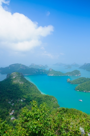Beautiful Rock and Sea at Southern Thailand photo