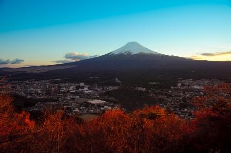 fuji san: Top view of Fuji mountain
