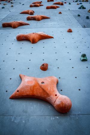 climbing  wall: Climbing Wall Stock Photo