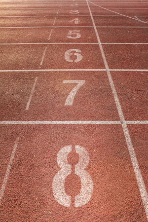 number on running track Stock Photo - 28246508