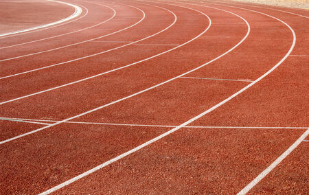 level playing field: number on running track