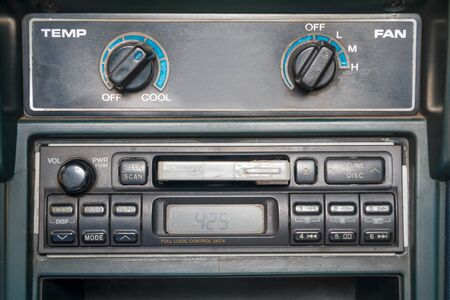 tape player: cassette tape player in car Stock Photo