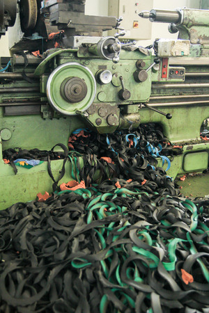 waste material: Waste Material from Lathe Machine