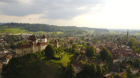 ambiente: Overview of a city in switzerland