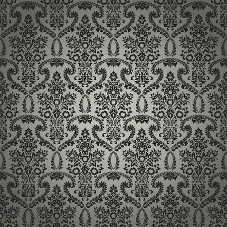 A seamless classic retro wallpaper pattern created in Adobe Illustrator. Nice to use as background. Stock Vector - 9986023