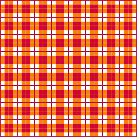 Old fashioned gingham check pattern in red   orange for scrapbooks, restaurants, fabrics, arts, crafts and decorating  Pattern swatch will seamlessly fill any shape  Vector