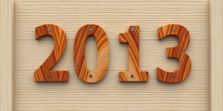 2013 year made of wood Stock Photo - 16478107