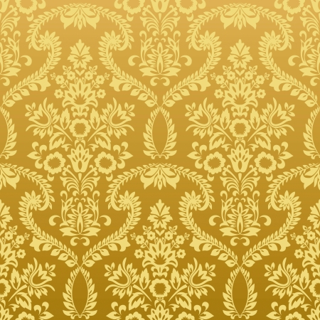 Seamless classic retro gold wallpaper pattern  Nice to use as background Stock Vector - 16819780