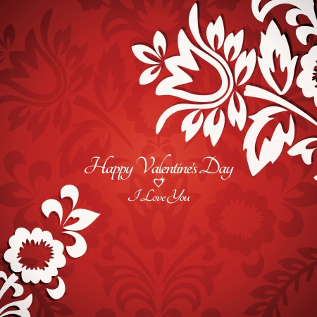Beautiful floral vintage delicate Valentine card for congratulatory text