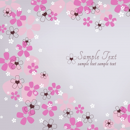 Beautiful floral delicate card for congratulatory text Stock Vector - 17441284