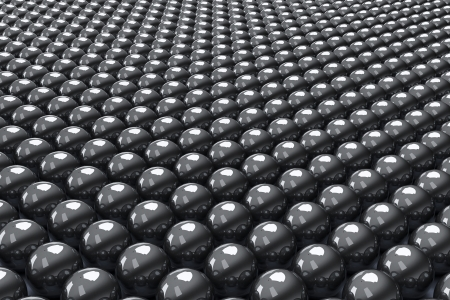Many rows of black balls, three-dimensional rendering Stock Photo - 18560851
