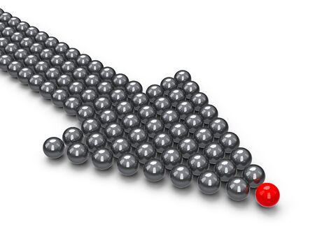 Index made of balls, three-dimensional rendering Stock Photo