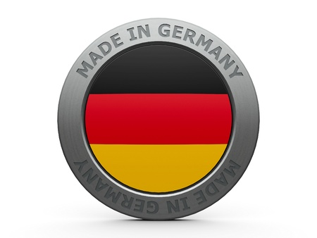 Emblem - made in Germany, three-dimensional rendering photo