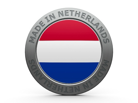 made in netherlands: Emblem - made in Netherlands, three-dimensional rendering