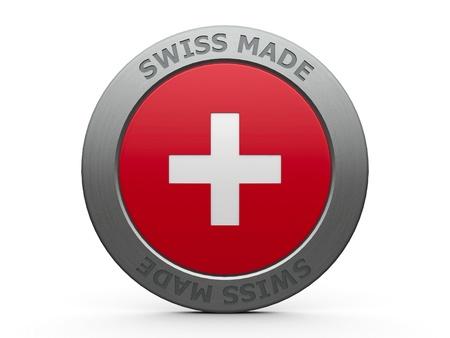 swiss alps: Emblem - szwajcarski, trójwymiarowy rendering