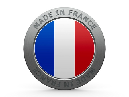 Emblem - made in France, three-dimensional rendering
