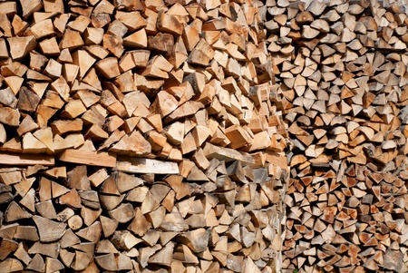 A lot of broken firewood stacked in a pile - wooden abstract background Stock Photo - 19449650