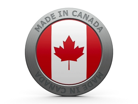 Emblem - made in Canada, three-dimensional rendering photo