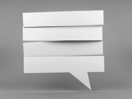 White strip blank speech bubble, three-dimensional rendering