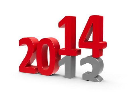 2013-2014 change represents the new year 2014, three-dimensional rendering